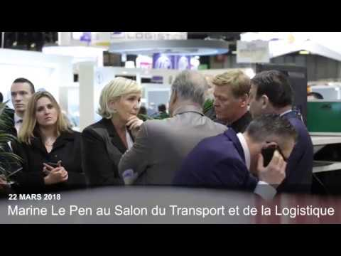 Marine le pen au salon international du transport et de la for Salon transport et logistique